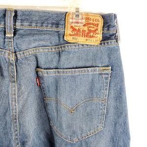 Levi's 501 Blue Jeans 34x30 Medium Wash Button Fly